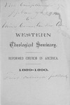 1889-1890. Catalog by Western Theological Seminary