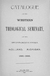 Western Theological Seminary Catalog: 1891-1892