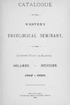 Western Theological Seminary Catalog: 1892-1893