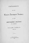 Western Theological Seminary Catalog: 1894-1895