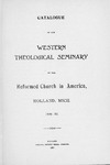 1896-1897. Catalog by Western Theological Seminary