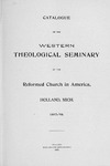 1897-1898. Catalog by Western Theological Seminary