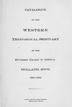 1901-1902. Catalog by Western Theological Seminary