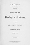 1902-1903. Catalog by Western Theological Seminary