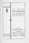 1903-1904. Catalog