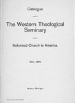 1904-1905. Catalog by Western Theological Seminary