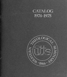 Western Theological Seminary Catalog: 1974-1975 by Western Theological Seminary