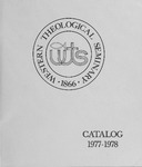 Western Theological Seminary Catalog: 1977-1978 by Western Theological Seminary