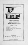 The Theolog, Volume 1, Number 3: May 1928