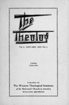 1929. Volume 2, Number 1. January by Western Theological Seminary