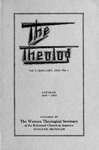 1930. Volume 3, Number 1. January by Western Theological Seminary