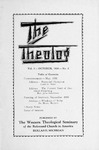 The Theolog, Volume 3, Number 2: October 1930